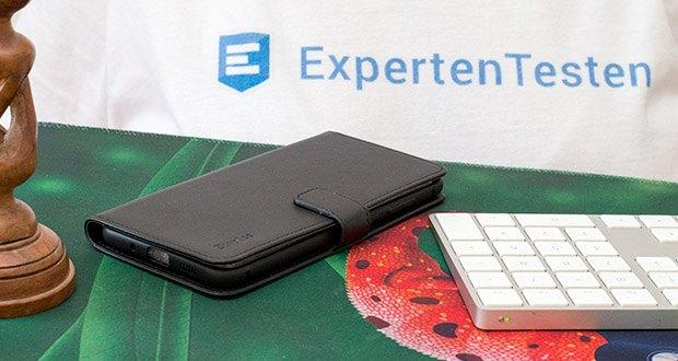 EasyAcc Hülle für Samsung Galaxy S20 Plus im Test - klappbare Abdeckung kann auch ein Kickstand sein, wenn Sie eine Freisprechfunktion für Unterhaltungen benötigen