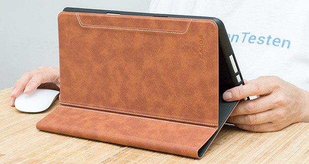 CACOE Schutzhülle für iPad 7 10.2 im Test - eingebauter iPad Stift Halter Und Adapterslot. Das einzigartige Loch erleichtert das Herausziehen des Stiftes