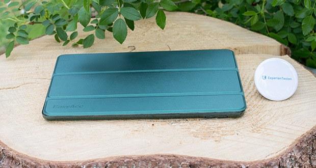 EasyAcc Hülle für iPad 5/6 im Test - Material: PU-Leder Frontabdeckung + harte PC Transluzent Matt Rückseite Abdeckung