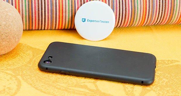 EasyAcc Hülle für iPhone 7/8/SE Schwarz im Test - flexible TPU Hülle, die Ihr Telefon perfekt umschließt