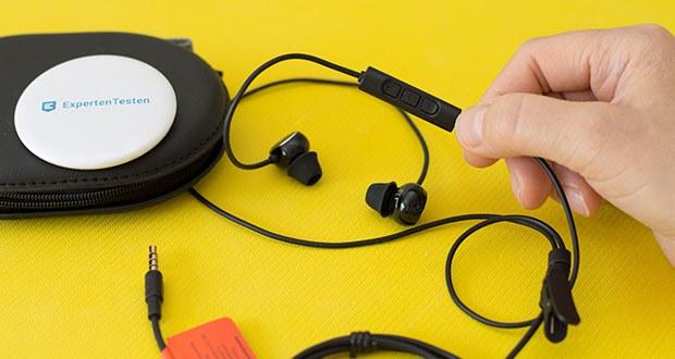 Beyerdynamic SOUL BYRD Kabelgebundener In-Ear im Test - die universelle 3-Tasten-Fernbedienung mit Mikrofon bietet dir volle Funktionalität sowohl an Android- als auch an iOS-Abspielgeräten
