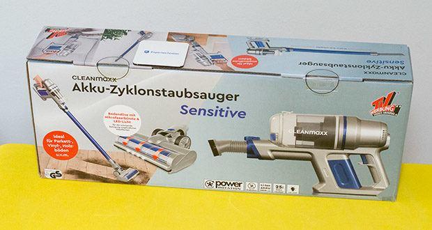 CLEANmaxx Akku-Handstaubsauger Sensitive im Test - Maße (L x B x H): ca. 38 x 12,8 x 19,3 cm