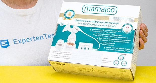 Mamajoo Elektronische Milchpumpe im Test - unterstützt die Anregung des Milchflusses nach der Geburt und dient auch dem entleeren der Brüste