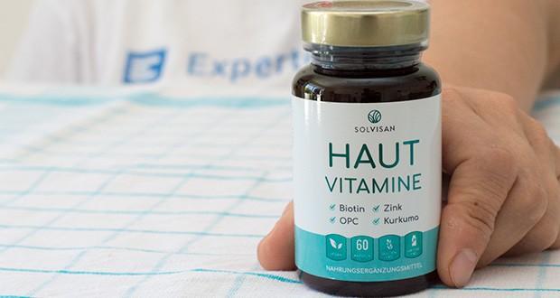 SOLVISAN Haut Vitamine im Test - Beauty-Quintett für die Haut : Biotin - Zink - Selen - Vitamin A - Vitamin B2