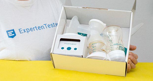 Mamajoo Elektronische Milchpumpe im Test - Set enthält: 1 x 220V Netz Adapter; 1 x Elektronische Einzel Milchpumpen mit USB; 1 x Verschluss Ring; 1 x PES Babyflasche; 1 x Babyflaschensauger