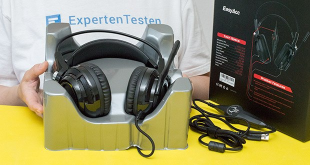 EasyAcc G1 Gaming Headset im Test - Kabel Länge: ca. 2.2 m