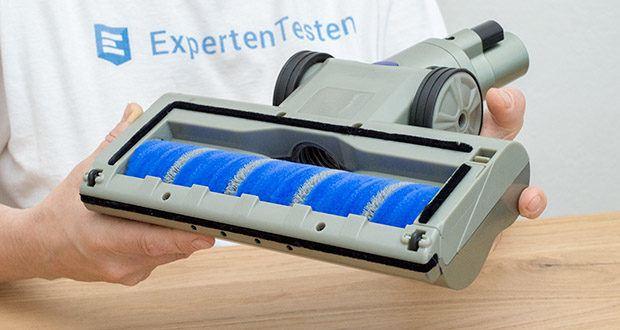 CLEANmaxx Akku-Handstaubsauger Sensitive im Test - dank der Mikrofaser-Bodendüse eignet sich das kabellose Multitalent auch ideal zur Reinigung empfindlicher Böden