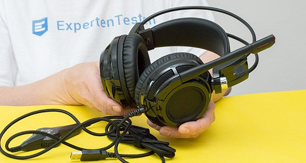 EasyAcc G1 Gaming Headset im Test - Lautsprecher Durchmesser: 40mm(NdFeB) / Sensibilität: 105+/-3dB at 1kHz