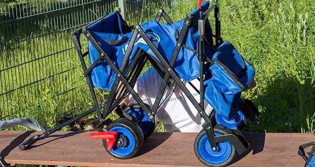 Izzy Bollerwagen faltbar im Test - stabiles Gestell aus Stahlrohr