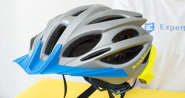 Blackcrevice Fahrrad- & Mountainbike Helm im Test - ein abnehmbares Schild sorgt für zusätzlichen Schutz: Bei Schlechtwetter vor Regen und Wind, bei Sonnenschein vor Blendungen, Insekten und Staub