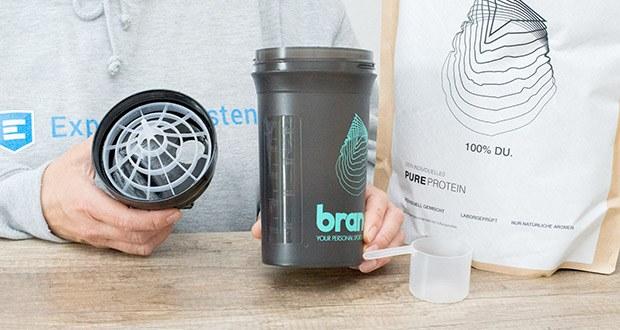 Brandl Pure Protein im Test - zusätzlich verzichtet Brandl auf Inhaltsstoffe, die dein Wohlbefinden potentiell gefährden können
