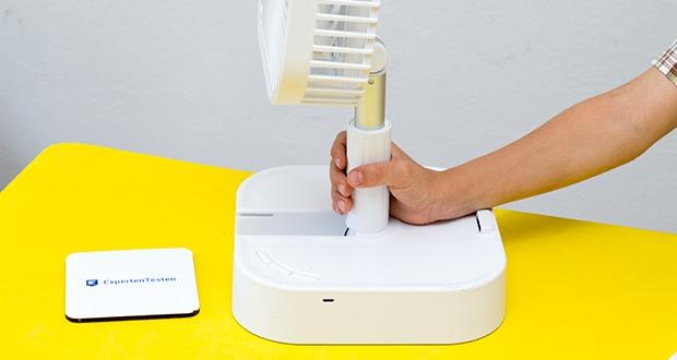 MAXXMEE Akku-Ventilator klappbar im Test - Steckdose überflüssig: Einfach überall mobil einsetzbar
