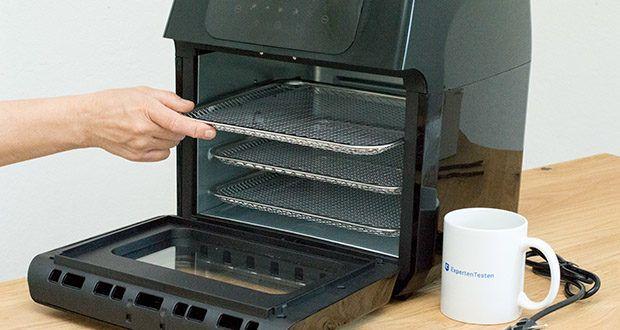 GOURMETmaxx Heißluft-Fritteuse im Test - Warmhaltefunktion: Essen bleibt bis zu 2 Stunden warm