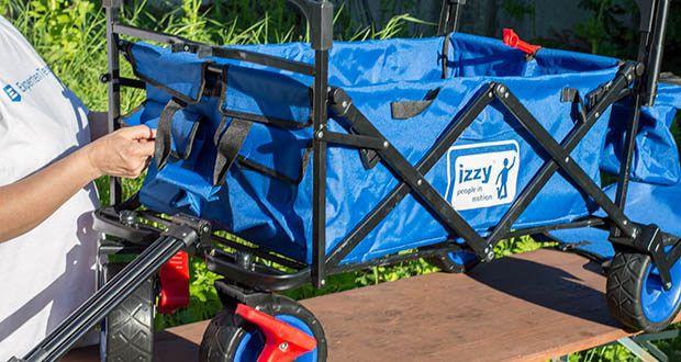 Izzy Bollerwagen faltbar im Test - mit extra breiten Reifen