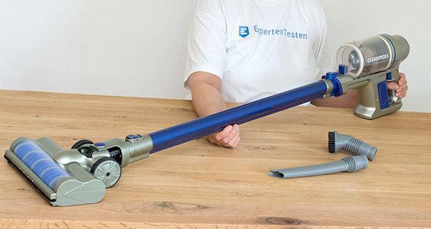 CLEANmaxx Akku-Handstaubsauger Sensitive im Test - setzen Sie ihn sich mit dem stabilen Verlängerungsrohr aus Metall einfach ganz nach Bedarf zusammen