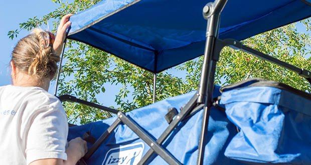 Izzy Bollerwagen faltbar im Test - robustes und belastbares Metallgestell