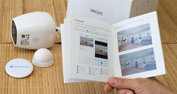 Vacos Akku WLAN Security Kamera im Test - PIR-Sensor erkennt die sich bewegenden warmen Objekte und der erweiterte AI-Algorithmus ermittelt dann, ob das Objekt ein Mensch ist