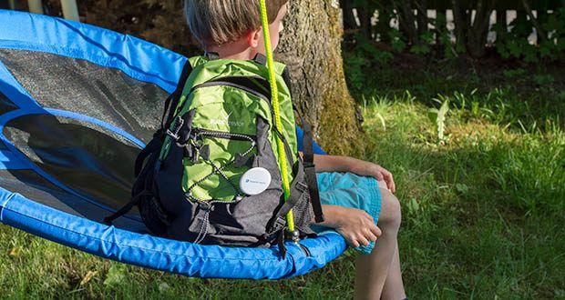 Blackcrevice Kinder Rucksack Explorer im Test - es befinden sich vier reflektierende Elemente auf der Vorderseite für erhöhte Sichtbarkeit in der Dämmerung
