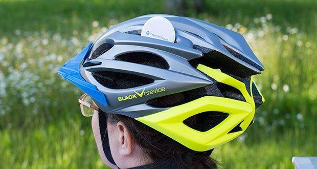 Blackcrevice Fahrrad- & Mountainbike Helm im Test - es ermöglicht auch während der Fahrt ein nachjustieren, sodass man sich voll und ganz auf den Trail konzentrieren kann