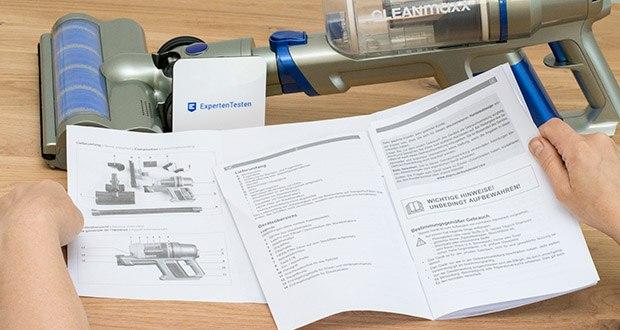 CLEANmaxx Akku-Handstaubsauger Sensitive im Test - Akku Ladedauer: ca. 4-5 Stunden