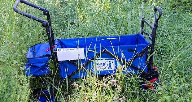 Izzy Bollerwagen faltbar im Test - leichtlaufende Gummiräder
