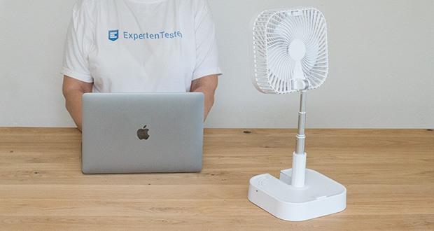 MAXXMEE Akku-Ventilator klappbar im Test - platzsparend verstaubar, überall nutzbar, zu Hause & unterwegs