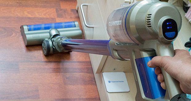 CLEANmaxx Akku-Handstaubsauger Sensitive im Test - beutellose Zyklon-Technologie mit leicht entleerbarem Schmutzauffangbehälter