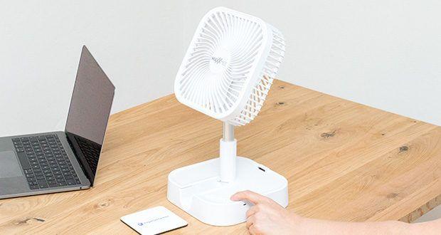 MAXXMEE Akku-Ventilator klappbar im Test - Intensität ganz nach Bedarf regulierbar