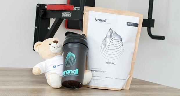 Brandl Pure Protein im Test - mit dem All-In-One Shake von Brandl, der all das beinhaltet, was genau du nach dem Krafttraining brauchst