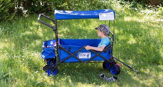 Izzy Bollerwagen faltbar im Test - bis zu 80 kg belastbar
