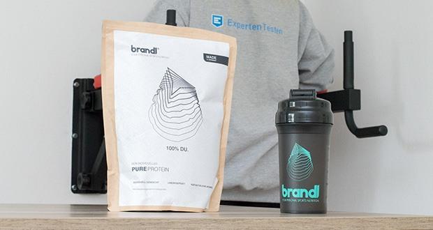 Brandl Pure Protein im Test - um Muskelaufbau mit Wohlbefinden zu verbinden, verwendet Brandl nur hochwertige Inhaltsstoffe in individuell angepasster Dosierung