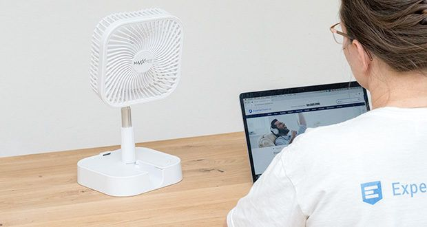MAXXMEE Akku-Ventilator klappbar im Test - unabhängig von Steckdosen - für in- & outdoor