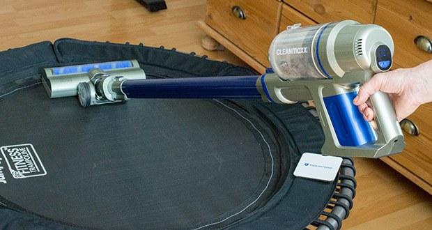 CLEANmaxx Akku-Handstaubsauger Sensitive im Test - mit diesem flexiblen Multitalent befreien Sie Tastaturen, Möbel, Autositze, Teppichböden, Treppenstufen u.v.m. von Staub und Schmutz und entfernen selbst Spinnweben von der Decke