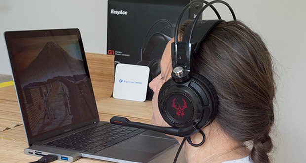 EasyAcc G1 Gaming Headset im Test - Sound Effekt: 7.1 virtueller Surround Sound