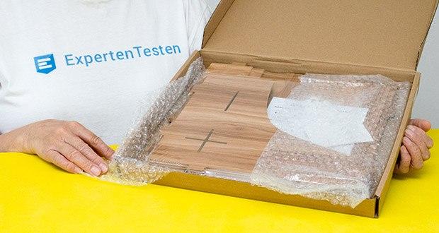 Lesfit Holz Stehsammler für Schreibtisch im Test - Material: umweltfreundliches Holz