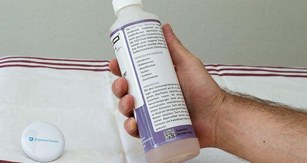 ECO-Clean by LcM Badreiniger 500 ml im Test - durch seine spezielle Schaumformel bietet die Möglichkeit einer längeren Einwirkzeit, da der aufgetragene Schaum auf der Oberfläche verbleibt und nicht sofort abläuft oder abtrocknet