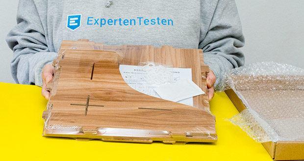 Lesfit Holz Stehsammler für Schreibtisch im Test - Gewicht: 1,7 kg