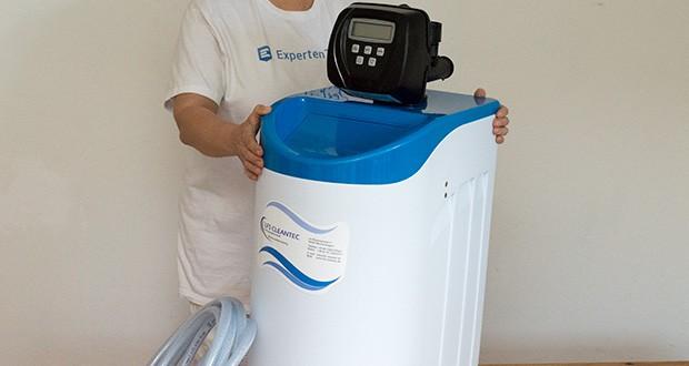 LFS CLEANTEC Wasserenthärter IWKC 1000 im Test - Anlagengröße: (Höhe x Breite x Tiefe) 800 x 320 x 500 mm; Drucktank GFK: 7x24; Anlagengewicht: 16,4 kg