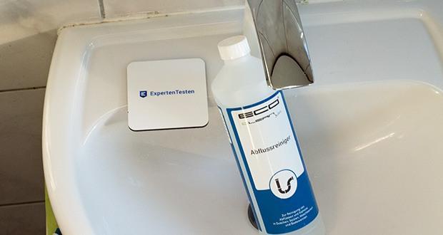 ECO-Clean by LcM Abflussreiniger 1000 ml im Test - einfache Anwendung