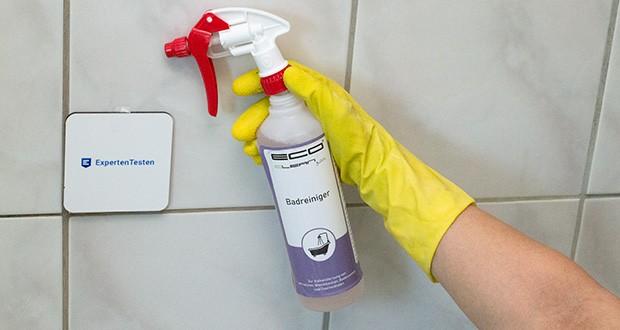 ECO-Clean by LcM Badreiniger 500 ml im Test - zur Anwendung empfiehlt sich die Verwendung von Schutzhandschuhen