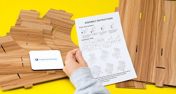 Lesfit Holz Stehsammler für Schreibtisch im Test - einfache Montage