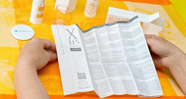 X115 Anti Aging Creme für Frauen im Test - enthält wichtige Antioxidantien, nämlich Alpha Liponsäure und die Vitamine A, C und E
