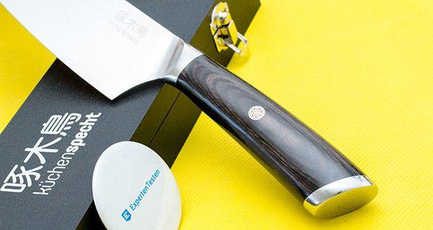 küchenspecht Kochmesser aus Damast Stahl im Test - Griff besteht aus Pakkaholz