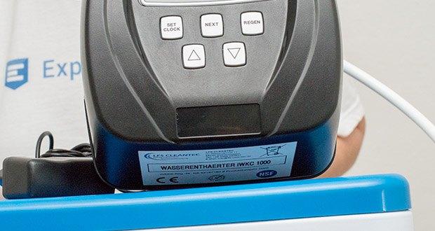 LFS CLEANTEC Wasserenthärter IWKC 1000 im Test - bei Lieferung ist der Wasserenthärter immer im Volumenmodus mit Zeitvorrangschaltung und Zwangsregeneration programmiert