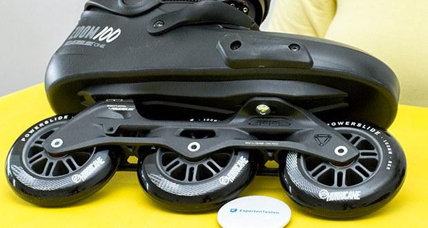 Powerslide Inlineskates Zoom Pro Black 100 im Test - Rollengröße: 100mm; Rollenhärte: 85a