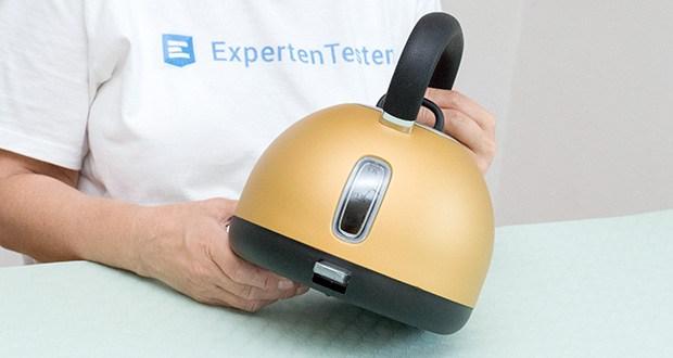 STEPLER Retro-Design Wasserkocher im Test - Korpus aus rostfreiem Edelstahl mit herausnehmbarem Filter für eine bequeme und gründliche Reinigung