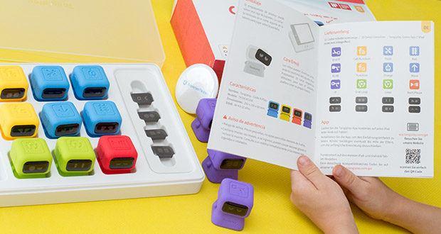 Tangiplay Coding Spielzeug im Test - 120 Spielniveaus durchzuziehen; 3 Arten interaktiver Aktionskombinationen: Drücken, Drehen, Schieben, um Auge-Hand-Koordination und Gehirnentwicklung fördern