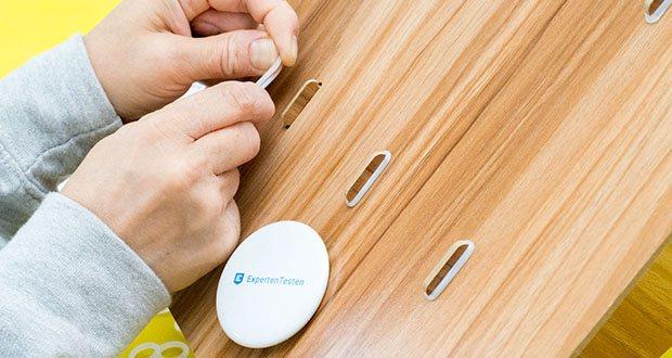Lesfit Holz Stehsammler für Schreibtisch im Test - die Montage dieses Papierkram Organizer ist kinderleicht und ohne Werkzeug