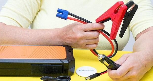 Autowit SuperCap 2 Starthilfe im Test - Aufladung alternativ mit dem Zigarettenanzünder, Netzadapter, USB-Kabel oder dem Handy möglich