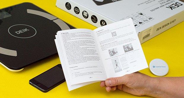 Deik Bluetooth Körperfettwaage im Test - die Bluetooth-Skalierung unterstützt Sie und Ihre Familie dabei, eine Skalierung zu teilen, um Gesundheitsmetriken zu verwalten und den Gesundheitszustand zu verbessern